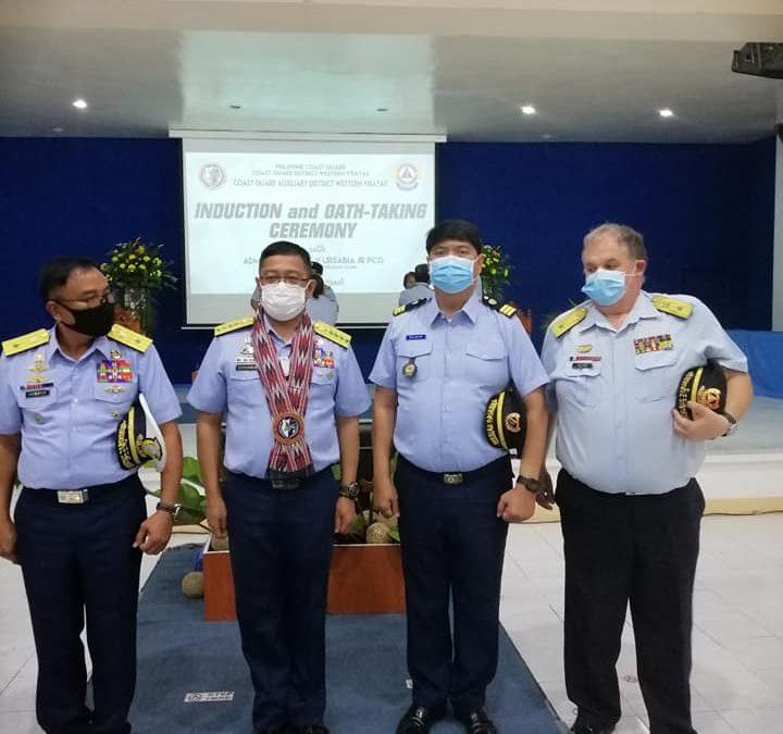 Richard Garin took his oath as Philippine Coast Guard Auxillary (PCGA) Commander.